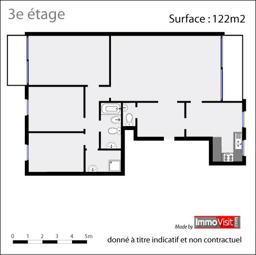 L appartement type 2 e 3 au 3e tage nvn - Appartement type 3 definition ...